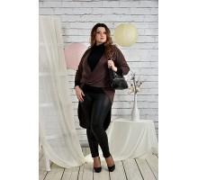 Шоколадная блузка 42-74 размер ККК237-0422-1