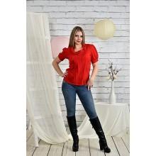 Алая блузка 42-74 размер ККК231-0425-1