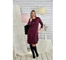 Платье бордо 42-74 размер ККК227-0432-2