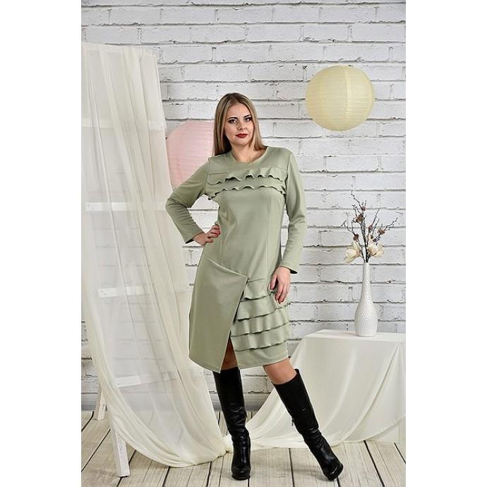 Платье шалфей 42-74 размер ККК226-0432-3