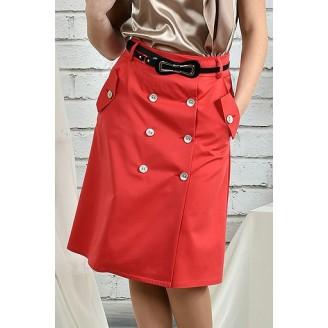 Коралловая юбка 42-74 размер ККК221-0438-2
