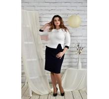 Платье белое с синим 42-74 размер ККК215-0440-2