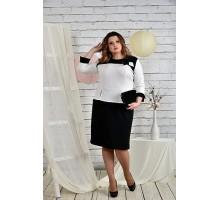 Черно-белое платье 42-74 размер ККК210-0442-1