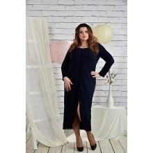 Темно-синее женское платье 42-74 размер ККК27-0443-1