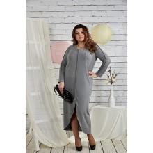 Серое платье 42-74 размер ККК26-0443-2