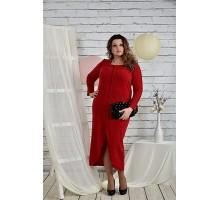 Платье красного цвета 42-74 размер ККК25-0443-3