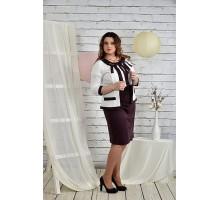 Костюм бисквит Платье и жакет 42-74 размер ККК23-0444-2