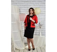 Костюм платье и жакет алый 42-74 размеры ККК22-0444-3