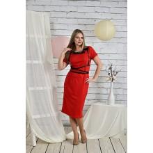 Алое платье 42-74 размеры портупея отдельно ККК2-0447-1