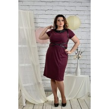 Бордовое платье 42-74 размеры портупея отдельно ККК2-0447-2