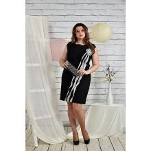 Нарядное черное платье 42-74 размеры  ККК2-0449-1