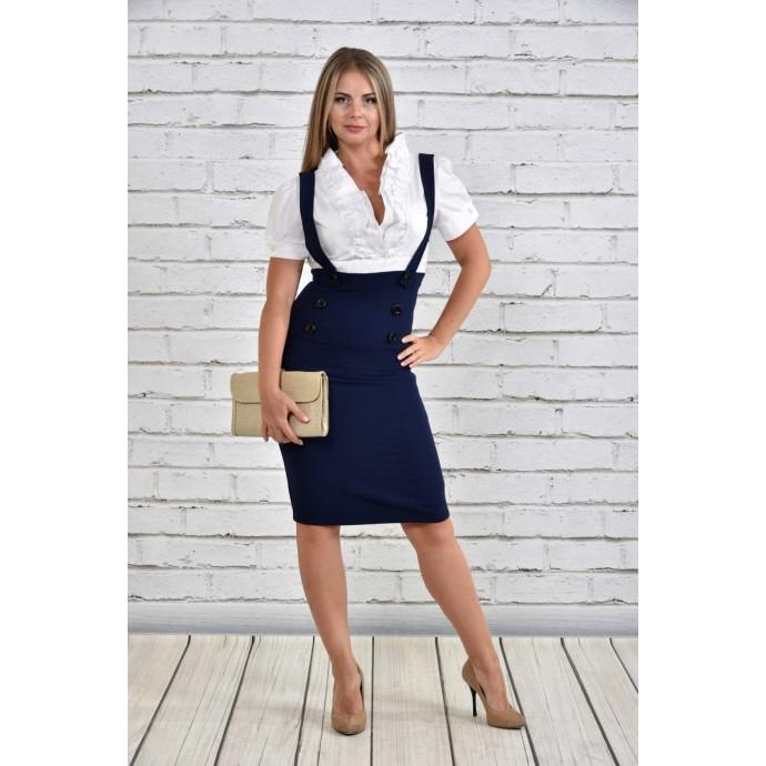Платье белое с синим ККК1547-0327-1