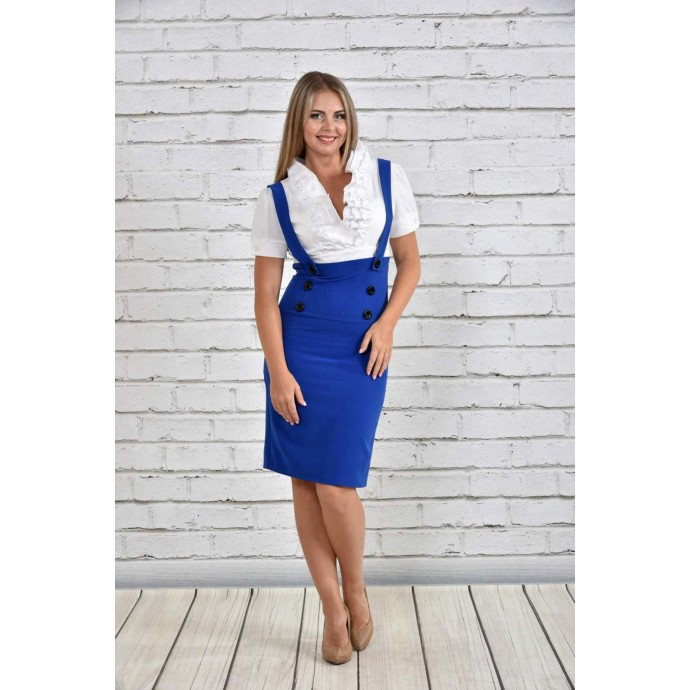 Платье белое и электрик ККК1545-0327-3