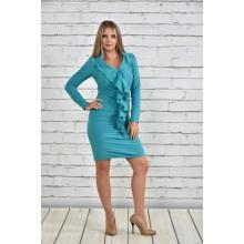 Платье зеленое ККК1541-0329-1
