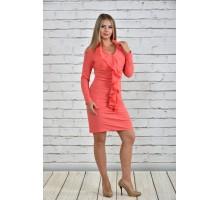 Платье коралловое ККК1540-0329-2