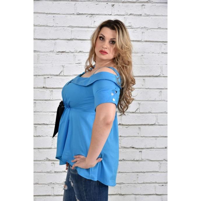 Голубая блузка ККК1536-0331-3