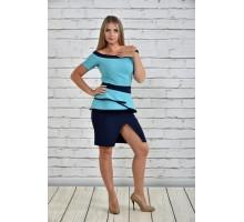 Костюм женский голубой ККК1529-0335-2