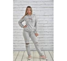 Спортивный костюм женский серый ККК1527-0336-1