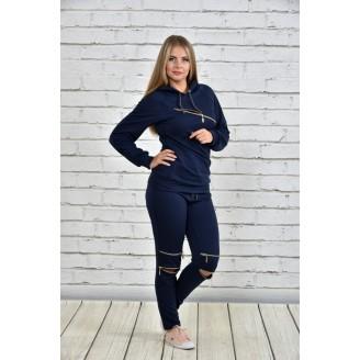 Спортивный костюм женский синий ККК1526-0336-2