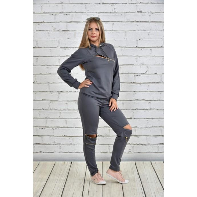 Спортивный костюм женский темно-серый ККК1525-0336-3