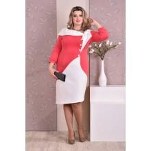 Коралловое платье ККК88-0186-2