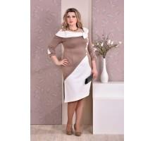 Бежевое платье ККК89-0186-3