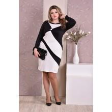 Черно-белое платье ККК811-0187-1