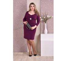 Фиолетовое платье ККК814-0191-1