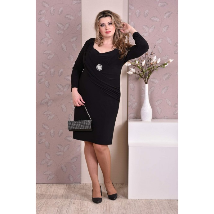 Черное платье ККК815-0191-2