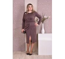 Коричневое платье ККК817-0198-1