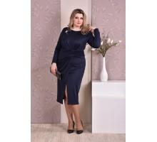 Темно-синее платье ККК819-0198-3