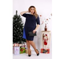 Платье синее из трикотажа ККК1213-0686-1