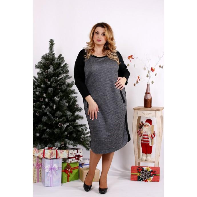 Платье зебра с черным ККК1218-0684-2