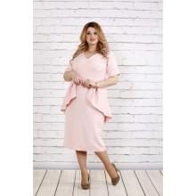 Платье очень красивого цвета пудры ККК183-0752-1