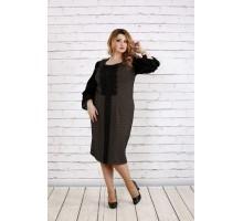 Темное платье с бежевым ККК1820-0746-2