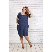 Платье со штриховым узором ККК1829-0743-2