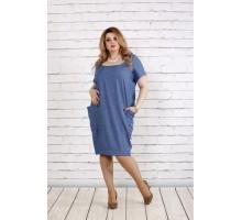 Платье-мешок джинсового цвета ККК1830-0743-1