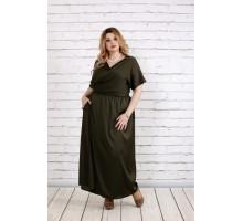Платье в пол цвета хаки ККК1832-0742-2