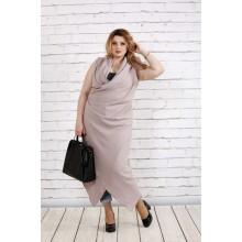 Льняное платье-туника цвета мокко ККК1834-0741-2