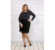 Темная блуза с блестящим люрексом ККК1845-0737-3