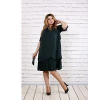 Зеленое скрывающее платье ККК185-0751-2
