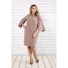 Красивое и нежное бежевое платье ККК1861-0721-3