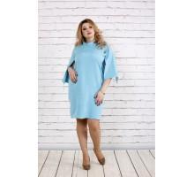 Стройнящее платье нежно-голубого цвета ККК1862-0721-2