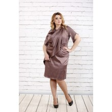 Платье цвета мокко из атласа ККК1618-0728-1