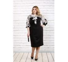 Черное платье с леопардовым шифоном ККК1644-0716-2