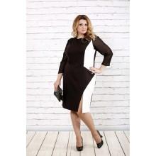 Шоколадное стройнящее платье ККК1619-0727-3
