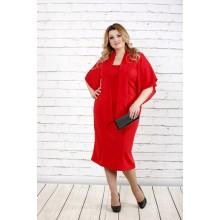 Яркое красное платье ККК1611-0730-2