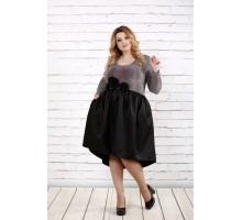 Бордовое платье с пышной черное юбкой ККК1613-0729-3
