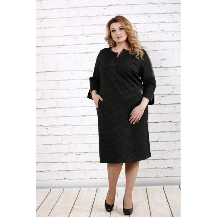 Крутое темно-зеленое платье ККК1639-0718-1