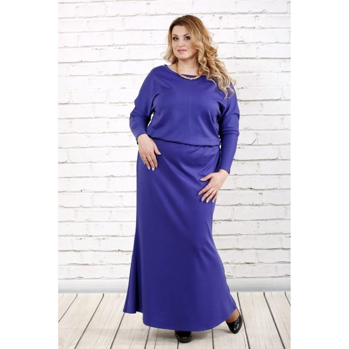 Фиолетовое платье макси ККК1633-0720-1